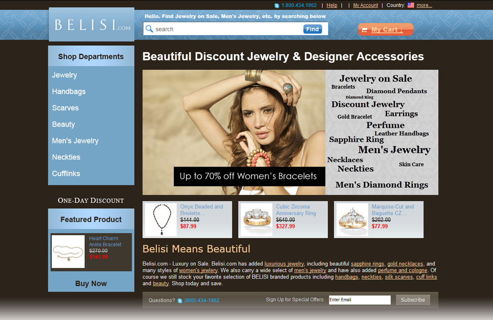 Belisi site design