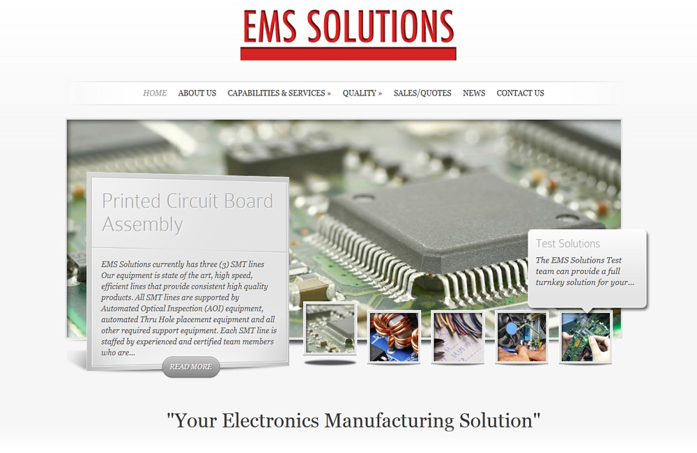 EMS Solutions website design company