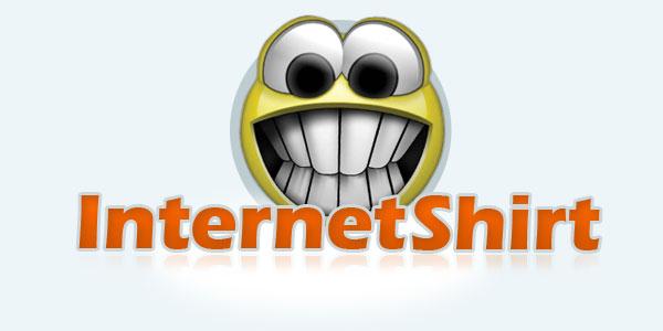 internet shirt custom logo design