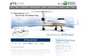 Jets.com web design