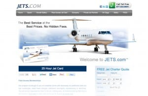 Jets.com web design