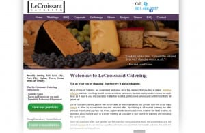 Le Croissant Catering site design & search engine optimization