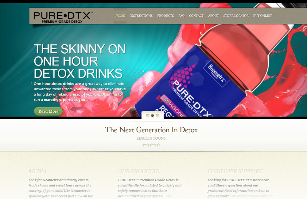 Pure DTX site design