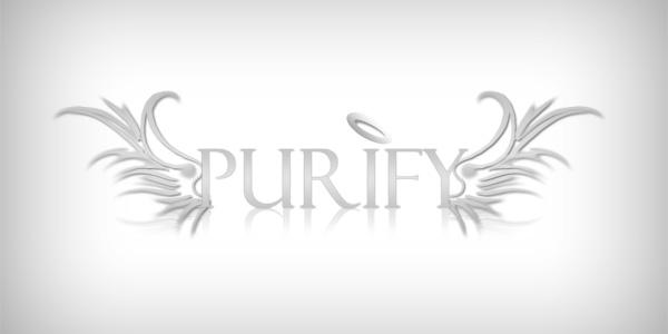 Purify custom logo design