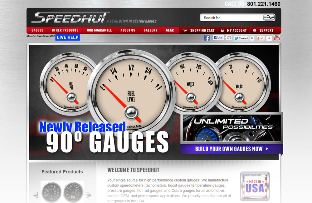 Speedhut website