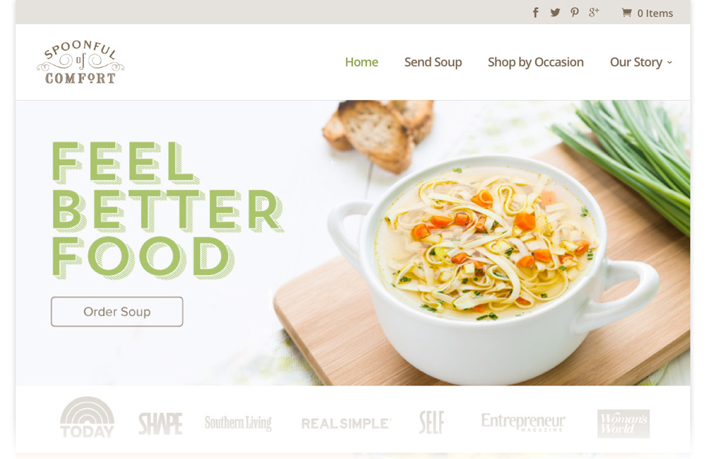 Spoonful of Comfort web design company