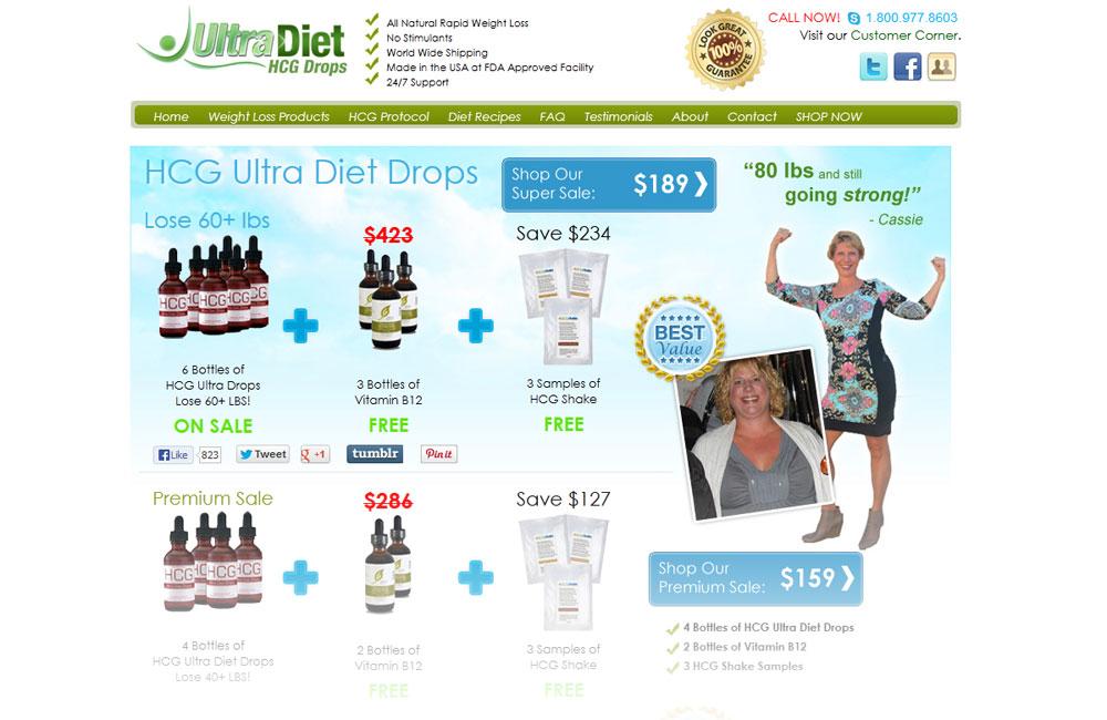 Ultra Diet HCG Drops website design