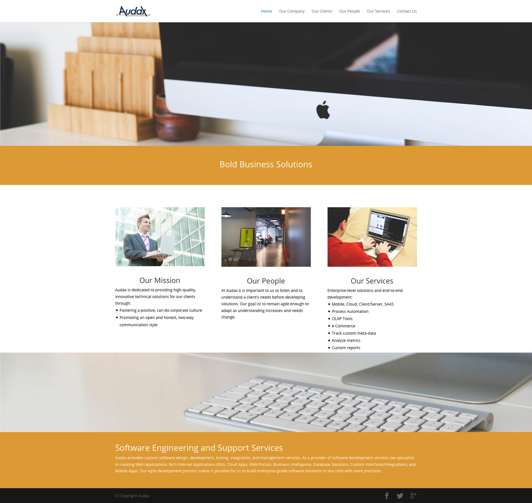 Audax website design