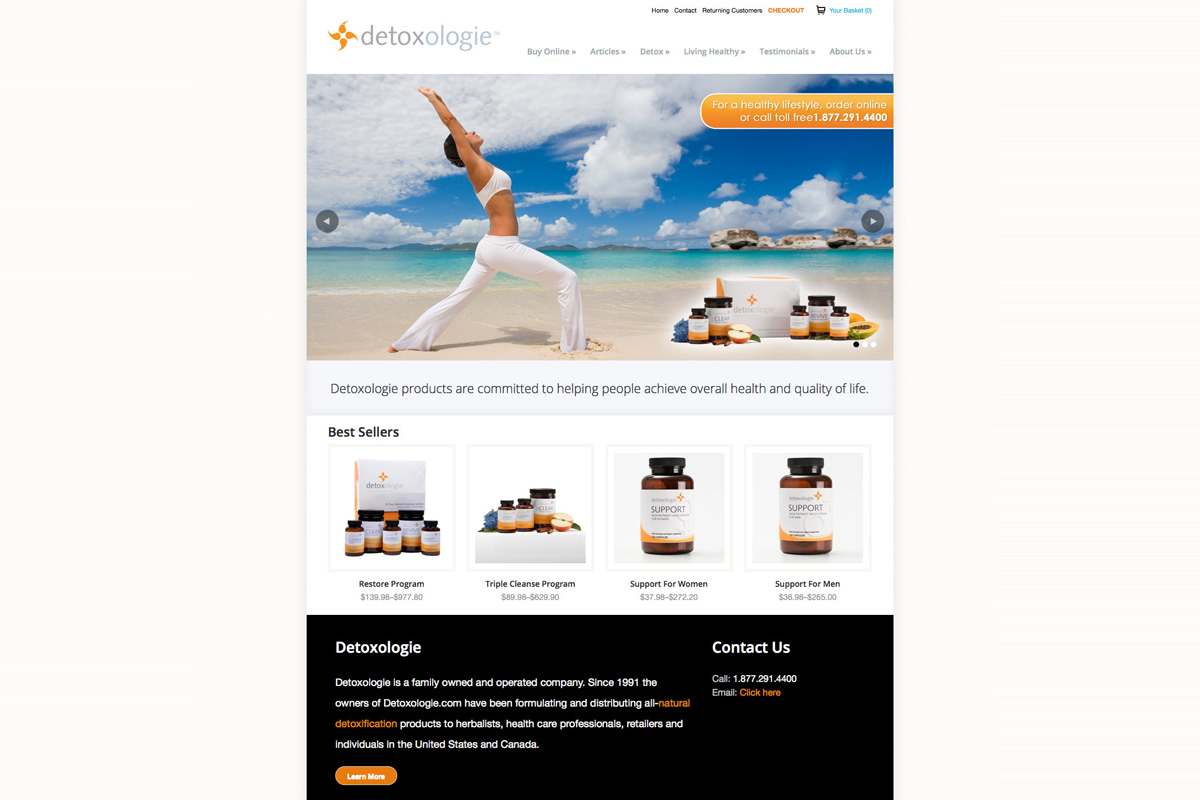 Detoxologie website design after