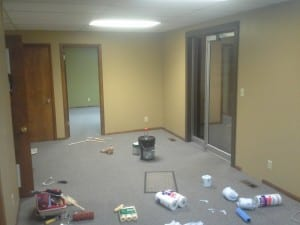 office remodel before