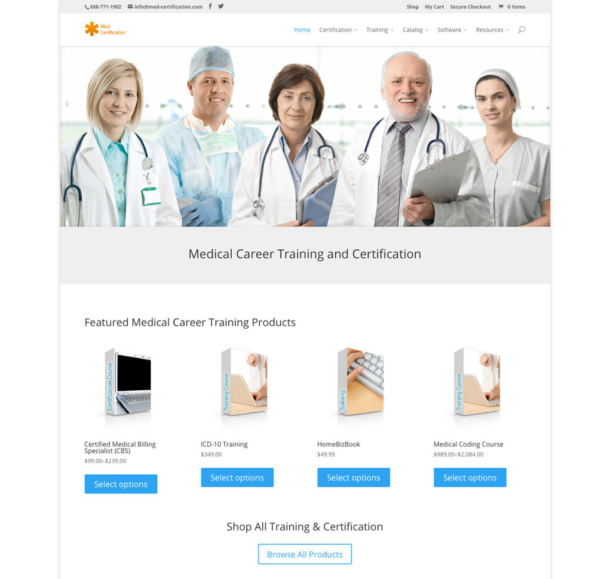 med-certification website design after