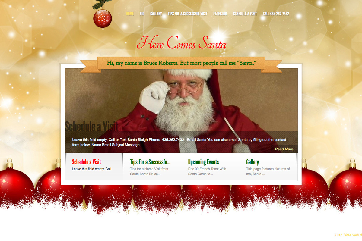 Santa website design after