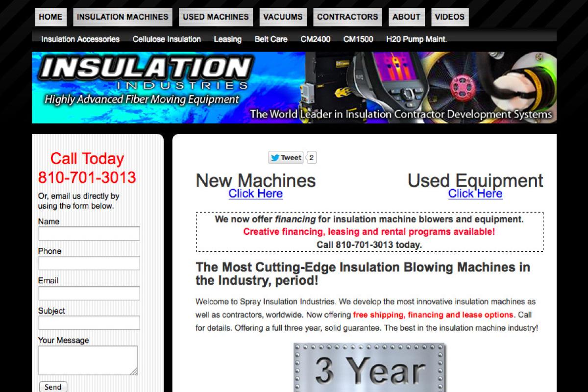 insulation website design before