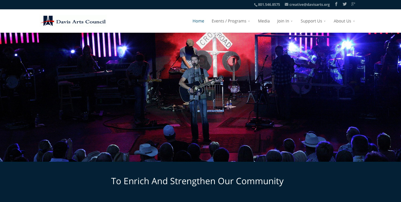 Davis Arts Council website