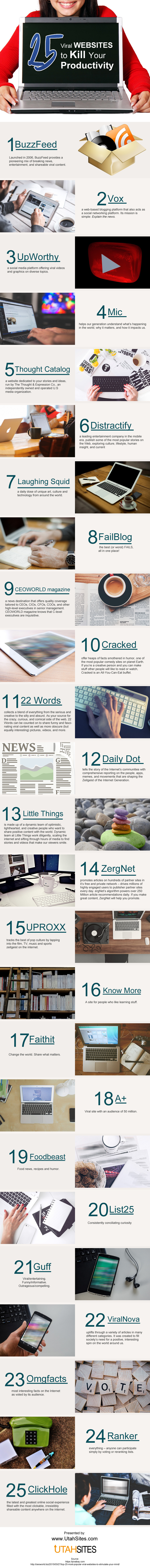 25 Viral Websites to Kill Your Productivity [infographic]