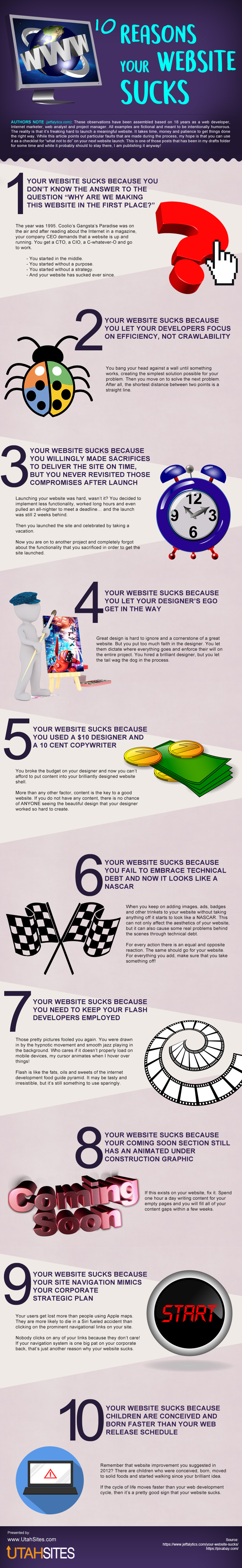 Reasons Your Website Sucks [Infographic]
