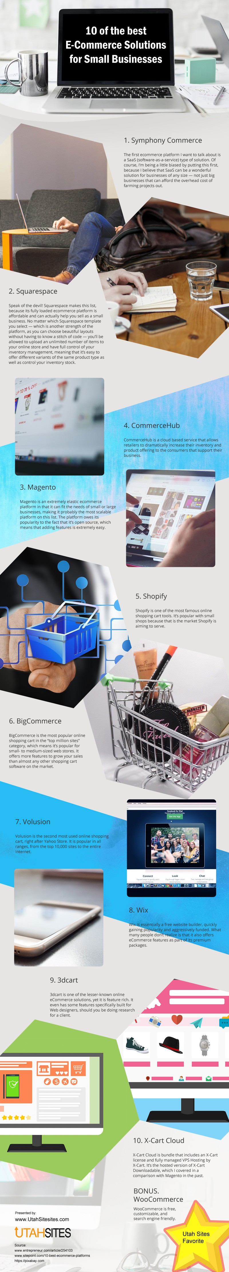 10 of the Best E-Commerce Solutions for Small Businesses [infographic]